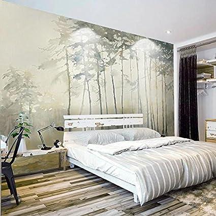 Huangyahui Mural 3d Nostalgic Woods Murals Living Room Tv