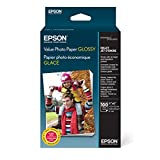 Epson S400034 Value Photo Paper Glossy 4 X 6, 100 Sheets Ink