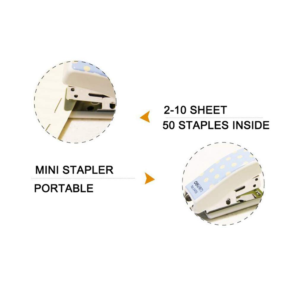 Portalble Mini Stapler for School and Office with Staples