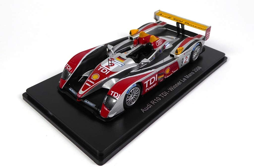 06 Spark 1//43 pour Hachette Japon OPO 10 Capello-Kristensen-MC Nish Compatible avec Audi R10 TDI #2 Winner Le Mans 2008