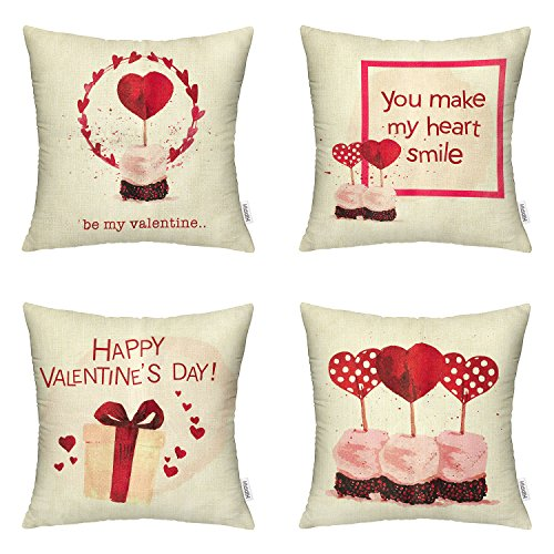 Packs Valentines Day Square Pillowcases