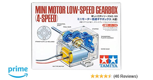 Tamiya USA TAM70189 Mini Motor Low Speed Gearbox 4-Speed
