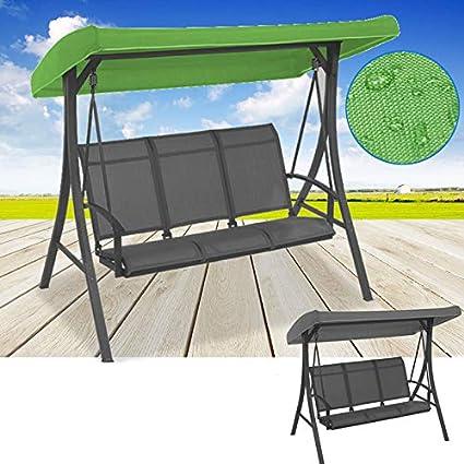 75u0026quot;x47u0026quot;x9u0026quot; Green/Grey Canopy Waterproofed Swing Chair Tent  Sunshade Camping