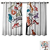 Best Avon Cat Trees - Anzhouqux Cartoon Bedroom Thermal Blackout Curtains Cat Tree Review