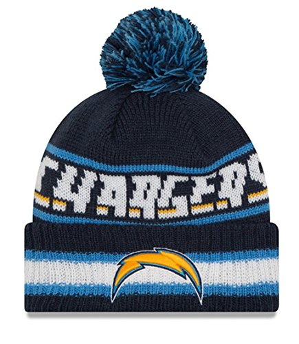 San Diego Chargers Stocking - New Era Knit San Diego Chargers Biggest Fan Redux Sport Knit Winter Stocking Beanie Pom Hat Cap NFL