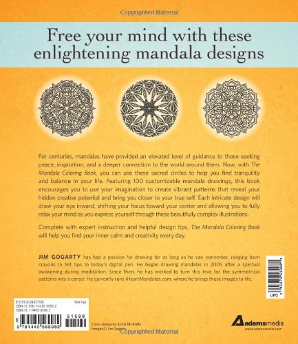 The Mandala Coloring Book Inspire Creativity Reduce Stress And Bring Balance With 100 Pages Jim Gogarty 0045079569980 Books