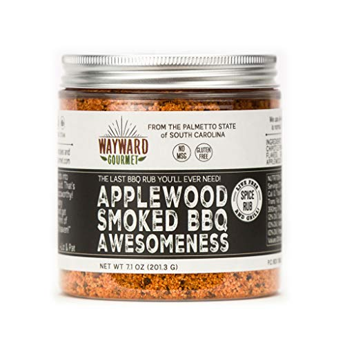 Applewood Smoked BBQ Awesomeness - Rub & BBQ Seasoning - Best BBQ Grill Seasoning Rub - Made for Chicken, BBQ Meat, Hamburgers, Pulled Pork, Ribs, Steaks - Dry Rub Spice Blend (The Best Bbq Ribs Recipe Ever)