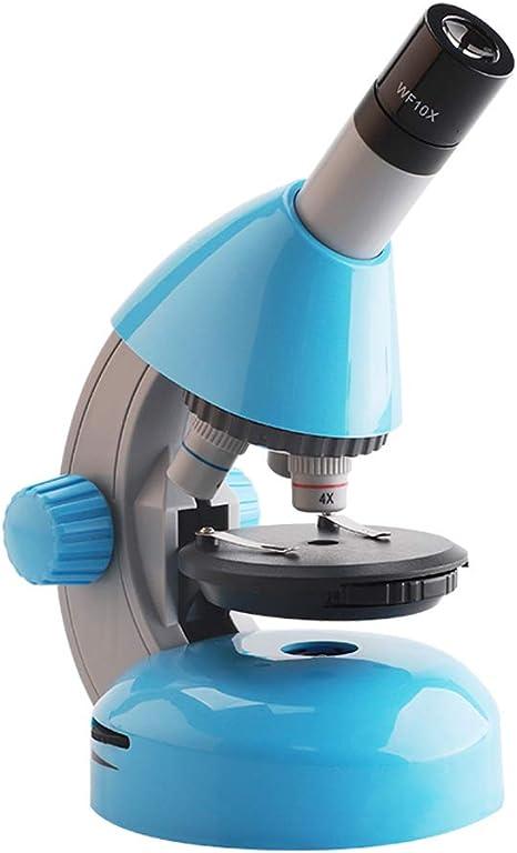 BAOFUR Microscopio para niños,ampliación 40X - 800X Microscopio Optico Microscopio Biologico Monocular con Fuente De Luz LED Y Soporte para Teléfono Móvil,para Estudiantes de 5 años en adelante: Amazon.es: Hogar