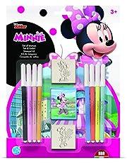 Multiprint Blister 2 Sellos para Niños Disney Minnie, 100% Made in Italy, Sellos Personalizados para Niños, en Madera y Caucho Natural, Tinta Lavable no Tóxica, Idea de Regalo, Art.26866