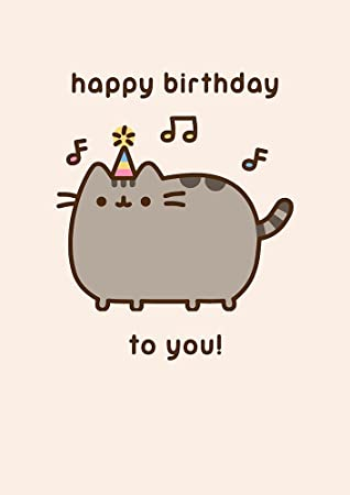 Pusheen The Cat Happy Birthday To You Greeting Card Amazon
