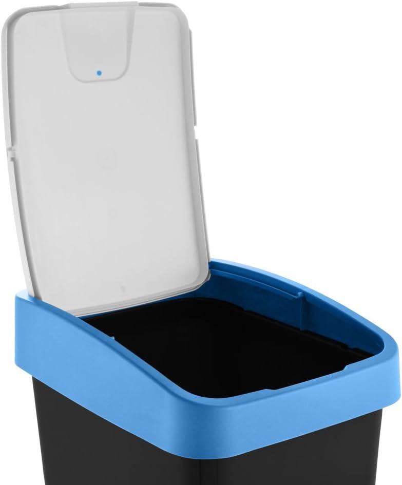 pour Sacs Poubelle 18-20 L keeeper 1060325400000 Bac /à d/échets avec Couvercle PP//TPE Vert 10 litres