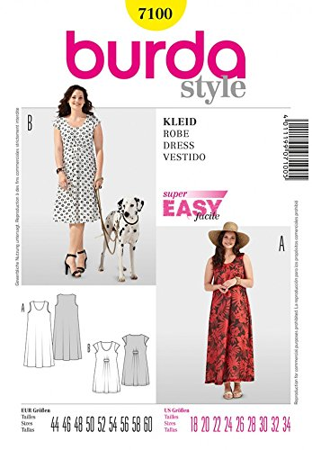 Easy Cartamodello Pattern Burda Per 7100 Ladies Abiti Sewing TOPXuwZkli