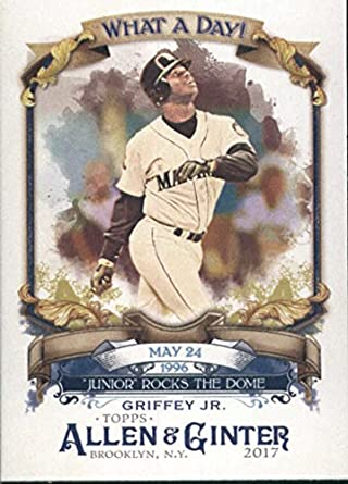 43f8cad7dc Amazon.com: 2017 Allen and Ginter What a Day #WAD-73 Ken Griffey Jr ...