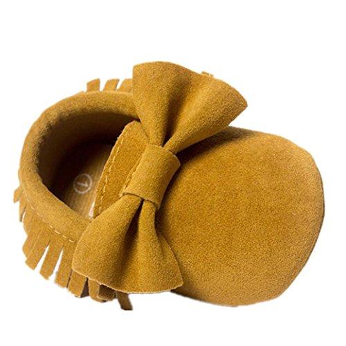 Babyschuhe Longra Baby-Krippe Quasten Bowknot Schuhe Sneakers Casual Schuhe Lauflernschuhe(0 ~ 18 Monate) Yellow