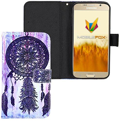 Mobilefox Traumfänger Flip Case Handytasche Samsung Galaxy S6