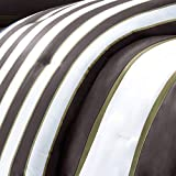 Mi-Zone Ashton Twin/Twin XL Kids Bedding Sets for Boys - Orange, Grey, Stripes – 3 Pieces Boy Comforter Set – Ultra Soft Microfiber Kid Childrens Bedroom Comforters