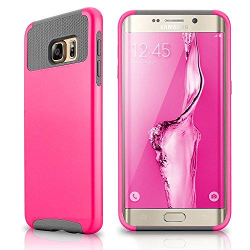 Slim Shockproof Case for Samsung Galaxy S6 Edge (Pink) - 5