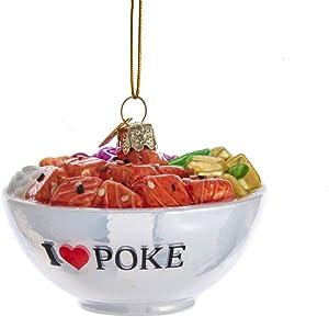 Kurt Adler 3.25-inch Tall Noble Gems Glass Poke Bowl Ornament
