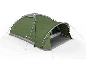Crua Duo Maxx 3 Person Lightweight Hiking Tent - Hunting, Motorcycle, Portable, Stakes, Winter, Snow, rain & Summer Heat, Weatherproof, Warmth & Cooling, All-Weather, Waterproof, Backpacking