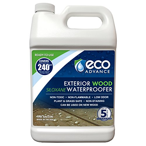 Deck Sealer - Eco Advance EAWOD128PD Wood Siloxane Waterproofer Ready-to-Use-1 Gallon Exterior Water Proofer