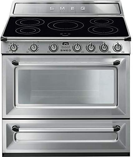 Smeg TR90IX9 - Cocina (Cocina independiente, Acero inoxidable, Botones, Giratorio, Acero inoxidable, Acero inoxidable, Frente): Amazon.es: Grandes electrodomésticos