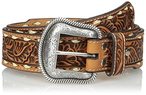 Nocona Men's Tan Tope Buck Belt, Brown, 36 by Nocona Boots