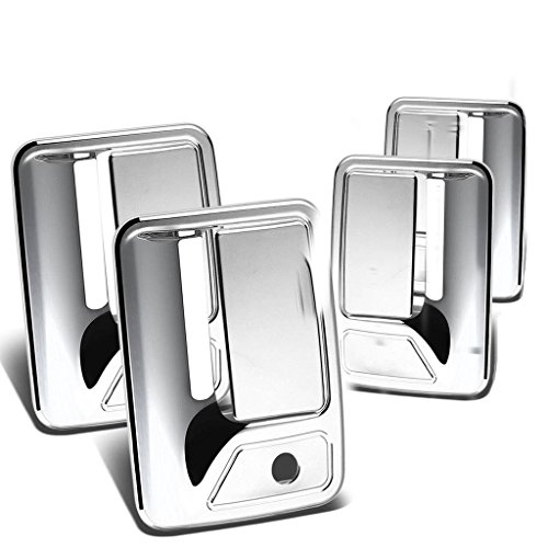 Handle Excursion Chrome Door (Ormax Chrome Door Handle Covers 4 doors WITH KEY HOLES ON DRIVER SIDE AND PASSENGER SIDE fit for 2000-2005 Ford Excursion Models Only)