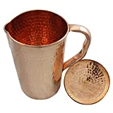 SAMMSARA Handmade Pure Copper Jug Pitcher |2000 ml| For Storage & Serving Water Good Health Benefits Indian Yoga, Ayurveda.Copper jug for drinking water
