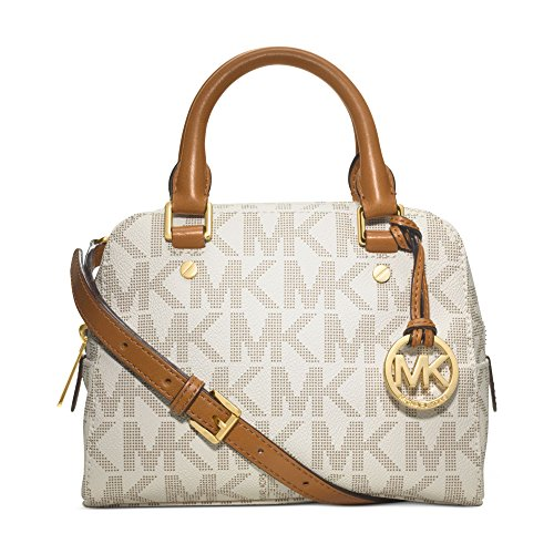 MICHAEL Michael Kors Jet Set Small Travel Satchel in Signature Vanilla by Michael Kors