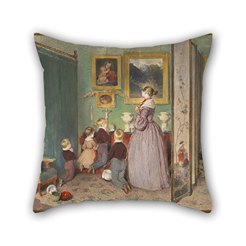 Slimmingpiggy Oil Painting Peter Fendi - The Evening Prayer, 1839 Pillowcase ,best For Sofa,floor,saloon,monther,living Room,birthday 18 X 18 Inches / 45 By 45 Cm(each (Magic Mike Halloween Outfits)