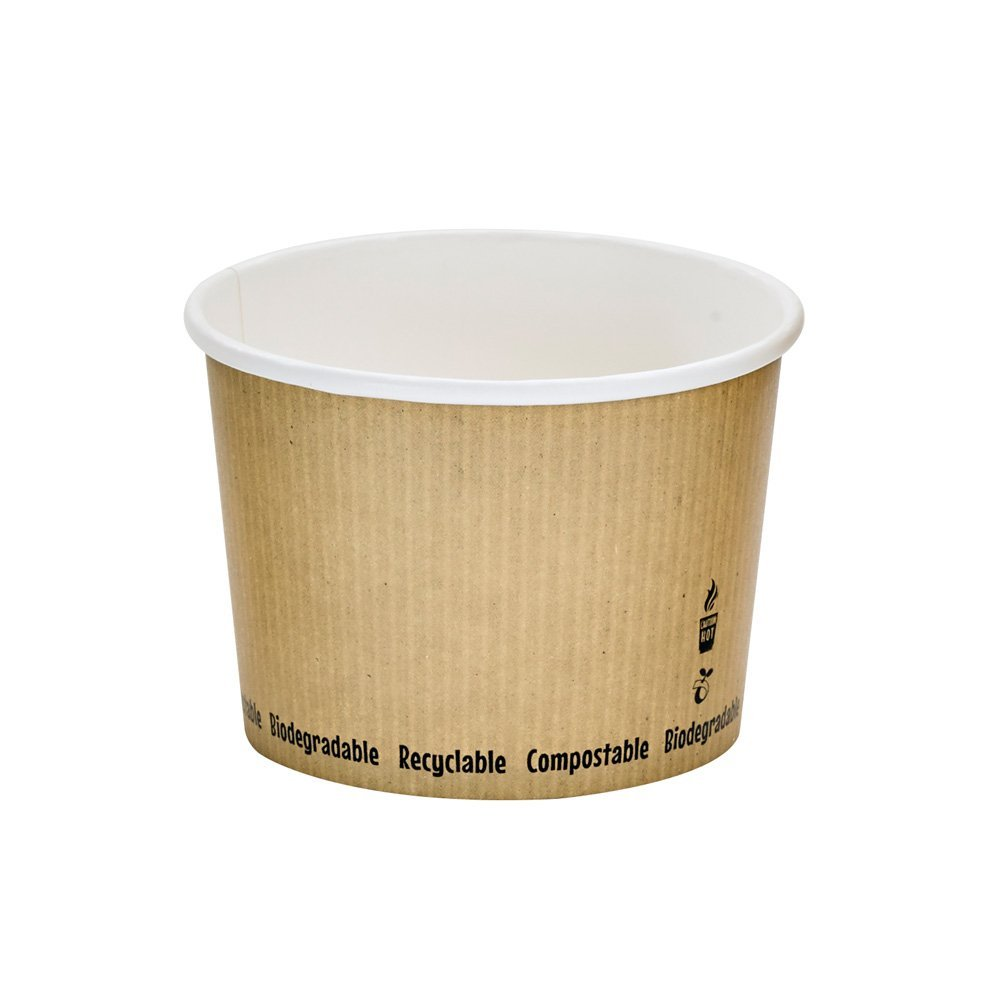 PacknWood Compostable Paper Soup Cup, 16 oz. (Case of 500) by PacknWood