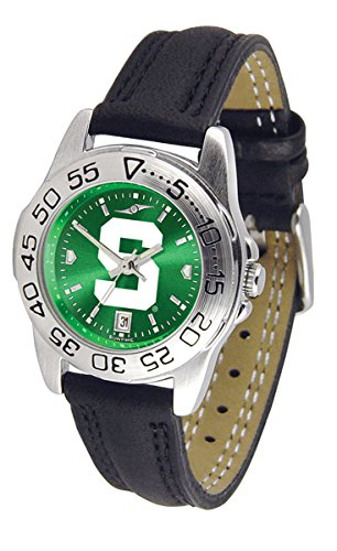 NCAA Michigan State Spartans Ladies Game Day Sport Leather AnoChrome Watch by Football Fanatics