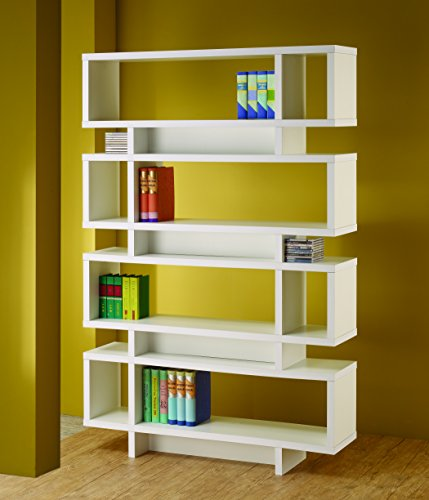 Coaster Bookshelf, White
