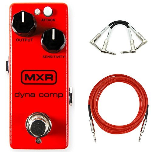 MXR M291 Dyna Comp Mini Compressor w/ 2 patch cables and 2 instrument (Dyna Comp Effects)