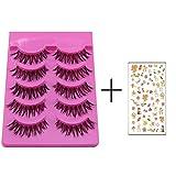 Bluelans® 5 Pairs Messy Cross Fake Eye Lash False Eyelashes Extension Makeup