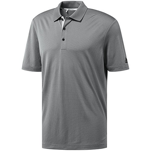 adidas Golf Men's 2-Color Stripe Polo, Grey Three /White, ()