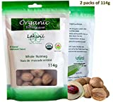 Certified Organic 227g/0.5LB Whole Gourmet Ceylon Nutmeg without shell (2 packs of 114g)