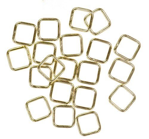 - uGems 12 14K Gold Filled Jump Ring Square 20ga 6mm Closed Ring