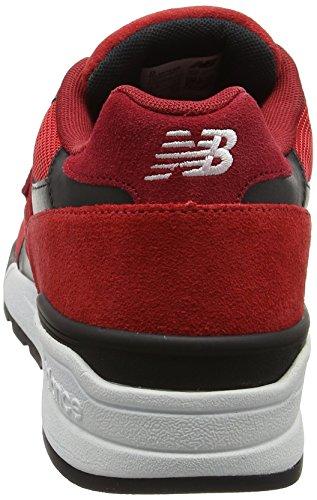 New Balance 597, Scarpe da Ginnastica Basse Uomo rosso