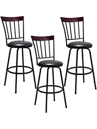 costway swivel counter height bar stool