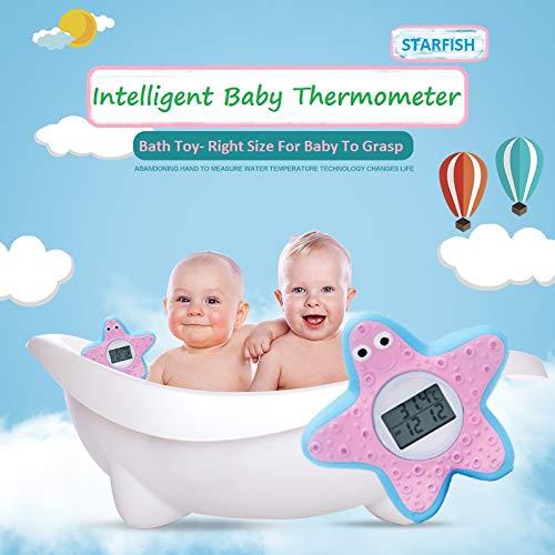 Termometro da bagno per bambini, termometro digitale per camera, giocattolo da bagnetto galleggiante nella vasca da bagno con allarme LED, anatra gialla (Stella Marina)