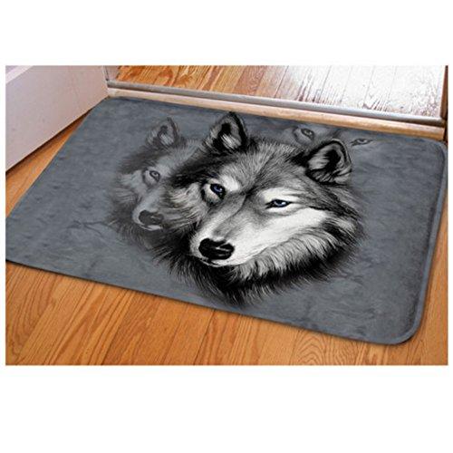 Door Mat Wolf - Showudesigns Wolf Gray Holidays Welcome Doormat Bedroom Kitchen Bathroom Area Rugs