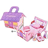 Fabric Bunny House Play Set For Children-Personalized