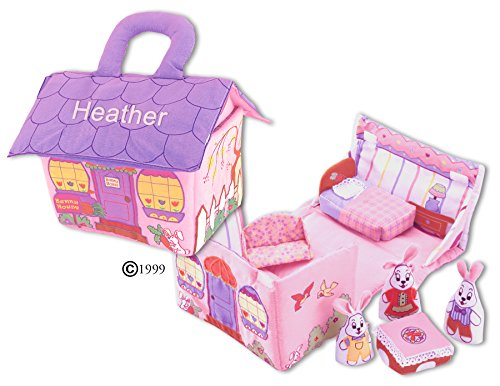 Fabric Bunny House Play Set For Children By Pockets Of Learning-Personalized Learning Bunny