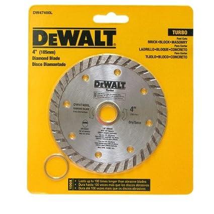 """DEWALT 4"""" Diamond Blade Turbo DW47400L - Dry Cutting - Arbor ..."""