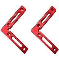 """90 graden 4,7 """"x 4,7 """"positionering vierkanten (Pack van 2 stuks), aluminium hoek klemmen vierkant, haakse klemmen…"""