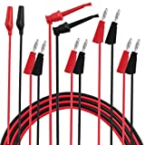 Micsoa Multimeter Leads, Electrical Test Lead Kit - Banana to Large Alligator, Banana to Banana, Banana to Plounger Mini Hooks Test Leads Set(3 Pair)