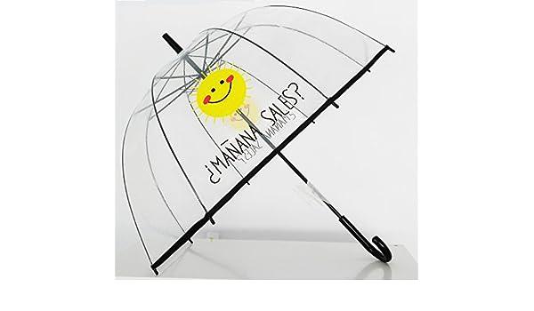 Paraguas Transparente de Mujer. Paraguas Automático de Mujer con la frase