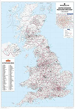 Uk Postcode District Map Sheet - BerkshireRegion