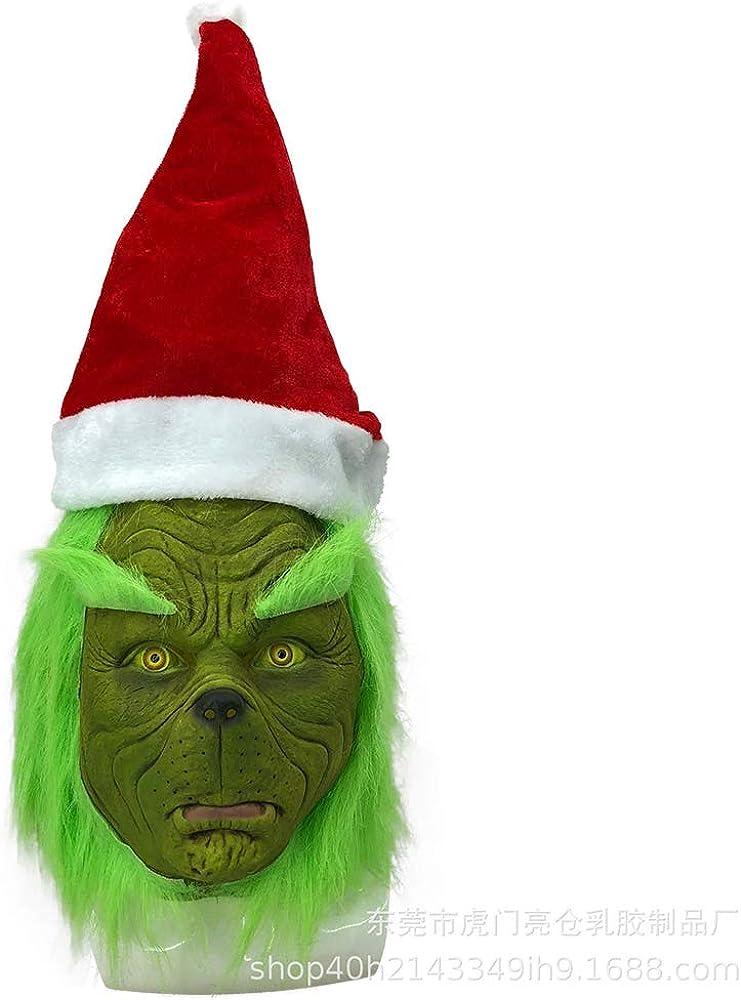 Vlago Disfraz de Grinch Santa de Navidad para Adultos con máscara ...